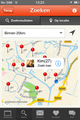 GPS dating iPhone app